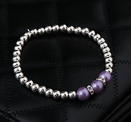 Strand Bracelets Alloy Fashionable Daily / Casual Jewelry Gift Silver