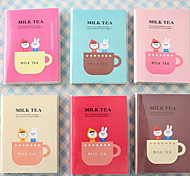 Small Slab Cartoon Milk Tea Notepad Diary