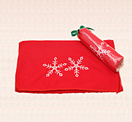 1pc Red Christmas Hotel Towel Snowflake Embroidery Design New Year Home Gift