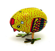 The Chicken Wind-up Toy Leisure Hobby  Metal Red / Yellow For Kids