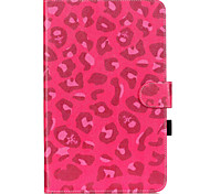 PU Leather Material Rose Leopard Pattern Tablet Sleeve for Galaxy Tab T550/T560