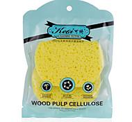 Keqi ® rosto fibra de polpa de madeira natural e banho de esponja cor aleatória 2 peça