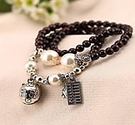 Women Alloy Silver Abacus Strand Bracelets