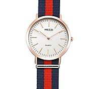 KEEZI hot sale and new design 3 colors band quartz watches 1502C