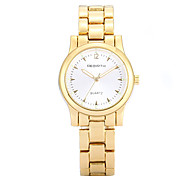 REBIRTH Women's Simple Fashion Gold Alloy Strap Quartz Wrist Watch
