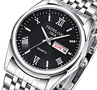 Men's Couple's Unisex Fashion Watch Wrist watch Quartz / Stainless Steel Band Casual Silver