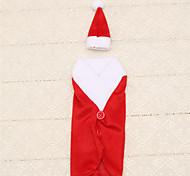1pc saco de garrafa de vinho de Santa do Natal tabela tampa vestido chapéu claus jantar decoração do partido