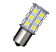 2 X Car RV Warm White 1156 BA15S 27-SMD 5050 Turn Signal Reverse LED Light bulbs