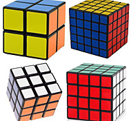 Shengshou® Cube velocidade lisa 2*2*2 / 3*3*3 / 4*4*4 / 5*5*5 Velocidade Cubos Mágicos Preta PVC