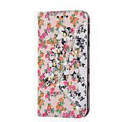 bloempatroon met strass decoratie case voor Samsung Galaxy Note 4 noot 5