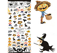 1 pcs Nail Art Water Transfer Halloween Sticker Colorful Image Nail Beauty HOT305