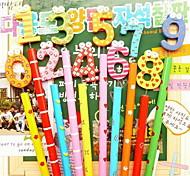 1041 Stationery Cute Cartoon Wooden Pencil Wooden Pencil Single 8G 0-9