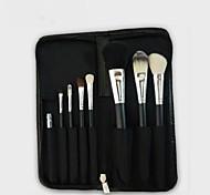 8Pcs Makeup Brush Zipper Bag Makeup Brush Set Natural Animal Hair