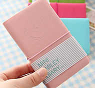 B1-31 Korea Stationery Leather Diary Notepad Notebook Portable Candy-Colored Smiley Face Book