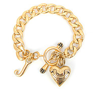 Fashion 316L Stainless Steel Heart Shape Clasp Charm Bracelets