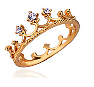 AAA Zircon Fine Crown Statement Ring for Wedding Party