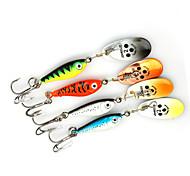 """4 pcs Cucharas Amarillo / Gris / Rojo / Azul 11 g/3/8 Onza,80 mm/3-1/4"""" pulgada,MetalPesca de Mar / Pesca de baitcasting / Pesca al"""