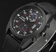 Masculino Relógio Esportivo / Relógio Militar / Relógio Elegante / Relógio de Moda / Relógio de Pulso Quartz Calendário Tecido Banda