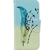 Ganzkörper Kartenhalter / Brieftasche / mit Ständer Feder PU - Leder Hart Fall-Abdeckung für Apple iPhone 7 / iPhone 7 plus