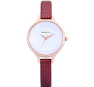 REBIRTH® Women's Simple Fashion Slim PU Leather Strap Quartz Wrist Watch