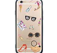 Accessory Pattern Cartoon TPU+PC Soft Case Back Cover Transparent Cover For Apple iPhone 6s 6 Plus SE/5s/5