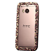 DIY Attractive Rhinestones Pattern Plastic Hard Case for HTC One M8