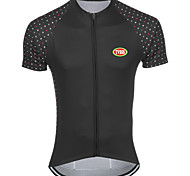 Sports Bike/Cycling Tops Men's Short Sleeve Breathable / Front Zipper / Back Pocket /  Reduces Chafing / Soft /