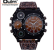Oulm® Men And Black Double Movement Table Is 1349-1 Dial Watch Belt