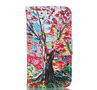 Tree Leather Wallet for Samsung Galaxy Core Prime Grand Prime