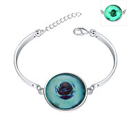 Lureme® New Magical Glow in The Dark 925 Sterling Silver Luminous Botany Bracelets