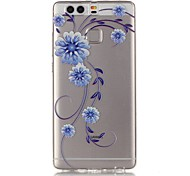 Orchid 3D Relief Feeling Super Soft Pack Transparent TPU Phone Case for Huawei P9