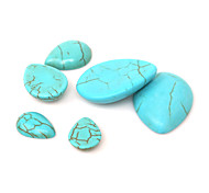 Beadia 20Pcs 13x18mm Water Drop Shape Synthetic Turquoise Stone Cabochons Beads