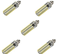 5pcs Dimmable E11&E17 152-LED Bulbs Socket Lamp Bulb 4014 SMD Light 450LM Silicone Crystal Capsule(AC110-130V)