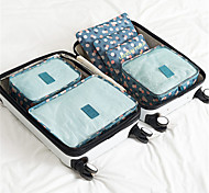 Printed Travel Bag Storage Bag Waterproof Clothing Storage Pack Travel Suitcase 6 Suits