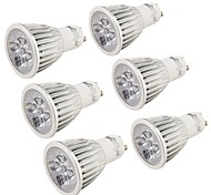 5 GU10 Focos LED MR16 5 LED de Alta Potencia 500 lm Blanco Fresco Decorativa AC 85-265 V 6 piezas