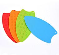 Multifunction Desktop Silicone Insulation Pad Anti-slip Mat Anti-scalding Heat Coasters Bowls Potholder (Random Color)
