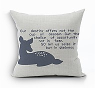 1 PC Casual Style Cotton/Linen Pillow Case 17 by 17 inch Cartoon Pattern