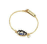 European Style Blue Eye Shape Chain Bracelet for Lady Girl