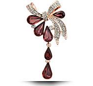 gioielli in cristallo moda piena di strass bowknot epoca spille da sposa / partito delle donne