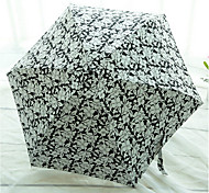 Черный / Синий / Коричневый Складные зонты Солнечный и дождливой / От дождя Pезина Lady / Мужчины