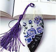 Custom Painting Purple Peony Veins Bookmarks Peony Festival Souvenirs Souvenirs Gift Gift