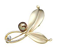 Women's Fashion Imitation Pearl Crystal Rhinestone Jewelry Party/Daily/Casual Brooches Pins