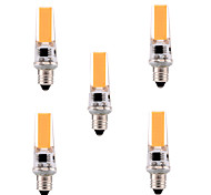 5W E11 Luces LED de Doble Pin T 1 COB 400-500 lm Blanco Cálido / Blanco Fresco Regulable / Decorativa AC 110-130 V 5 piezas