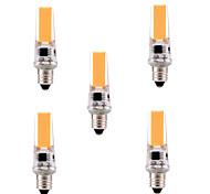 5W E11 LED à Double Broches T 1 COB 400-500 lm Blanc Chaud / Blanc Froid Gradable / Décorative AC 110-130 V 5 pièces