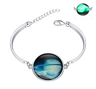 Lureme® New Magical Glow in The Dark 925 Sterling Silver Luminous Star Bracelets