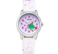 Kids' Fashion Watch Wrist watch Casual Watch Quartz Japanese Quartz Casual Watch PU Band Cartoon White Blue Red Pink Purple Brand KEZZI