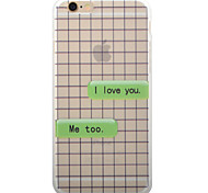 I Love You Letter Pattern TPU Matte Phone Case Soft Case for iPhone 6/6S/6Plus/6SPlus