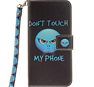 Painted Anger Pattern Card Can Lanyard PU Phone Case For Samsung Galaxy Note 4 5 7