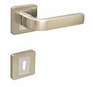 Door Lever, Handleset, Door handle with Key Hole Escutchoen Color Brush Nickle and Chrome
