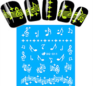 1pcs Nail Art Water Transfer Noctilucent Sticker Music Note Decoration Nail Beauty DG-011